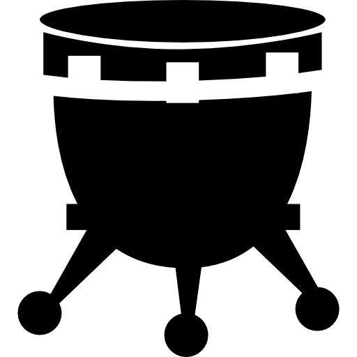African Drum With Stand Icons Free Download