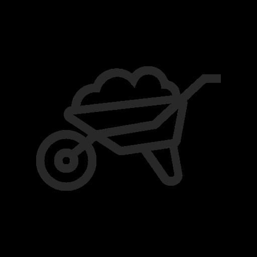 Agriculture, Farm, Wheelbarrow, Plant, Nature, Garden, Farming Icon
