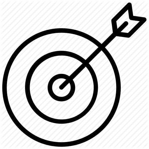 Archery, Bullseye, Marketing Goal, Target, Target Aim Icon