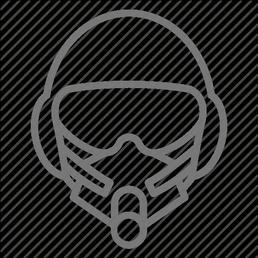 Air Force, Helmet, Military, Pilot Icon