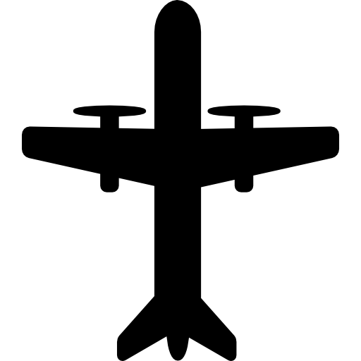 Aeroplane With Propellers Icons Free Download