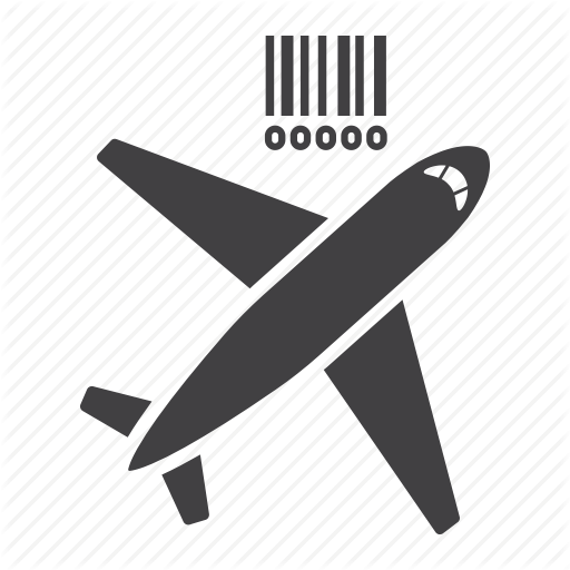 Air, Barcode, Cargo, Delivery, Freight, Logistic, Shipping Icon