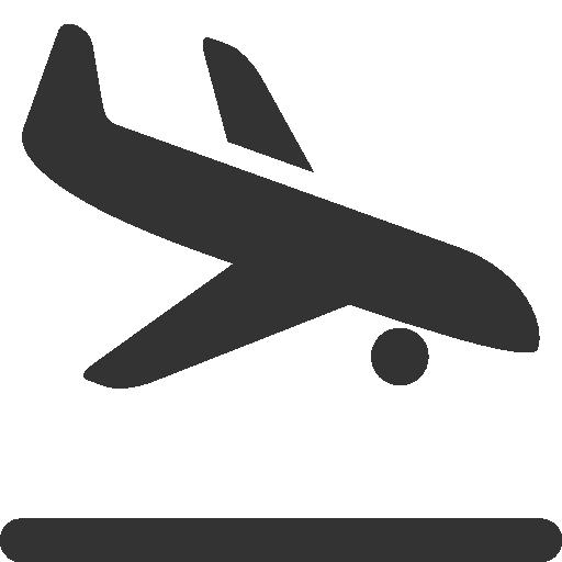 Airplane, Landing Icon