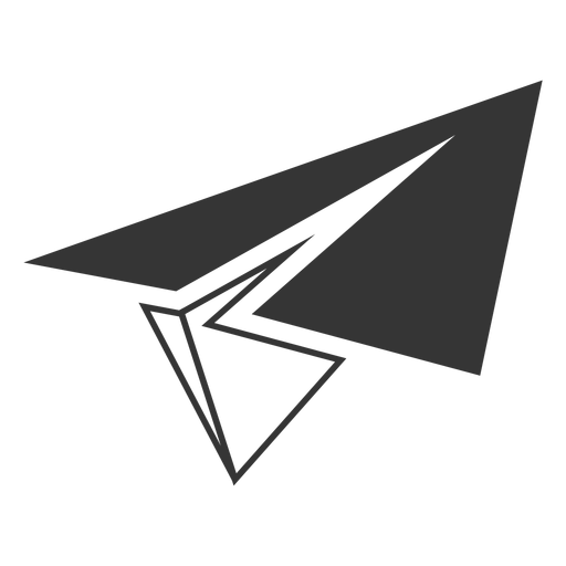 Line Style Paper Airplane Icon
