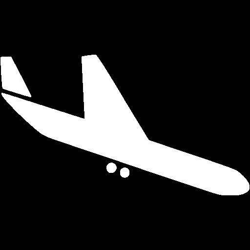 White Airplane Icon
