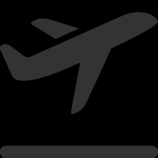 Takeoff, Airplane Icon