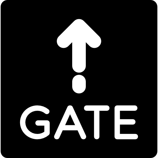 Gate Sign Icons Free Download
