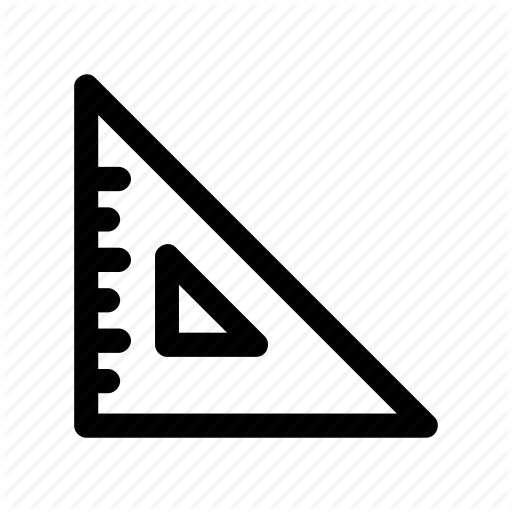 Algebra, Geometry, Math, Ruler, Triangle Icon
