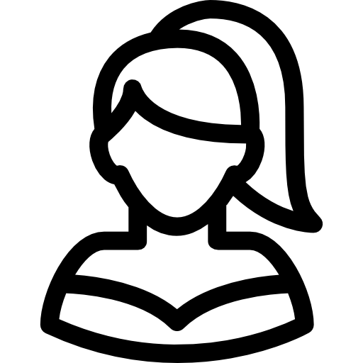 Female With Ponytails Png Icon Free Download