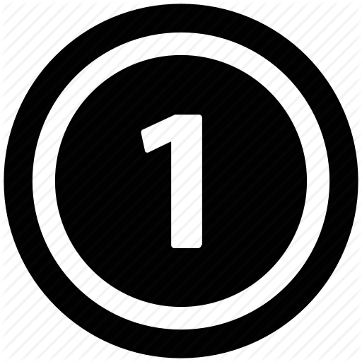 Circle, Digit Number One, Number Icon