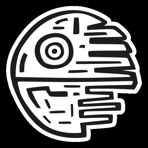 Death, Star Icon Free Of Space Hand Drawn Black Sticker