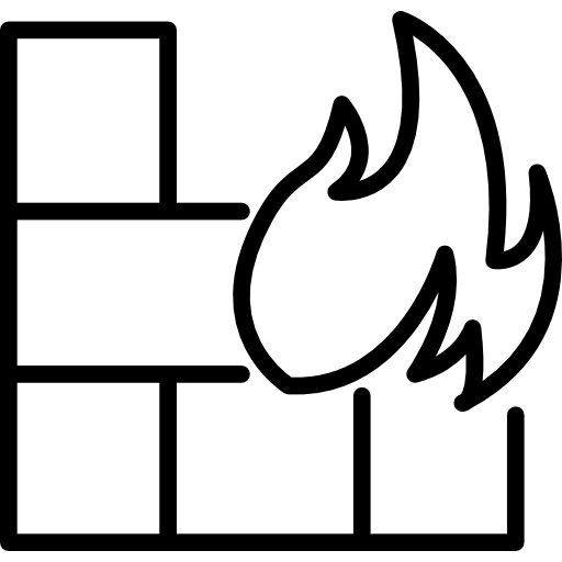 Flame On Bricks Icons Free Download