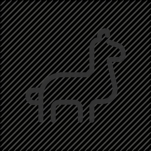 Alpaca, Animals, Farm, Llama, Mammal, Wildlife, Zoo Icon