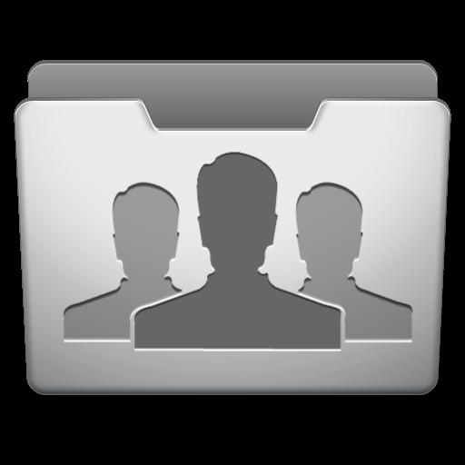 Aluminum Grey Groups Icon