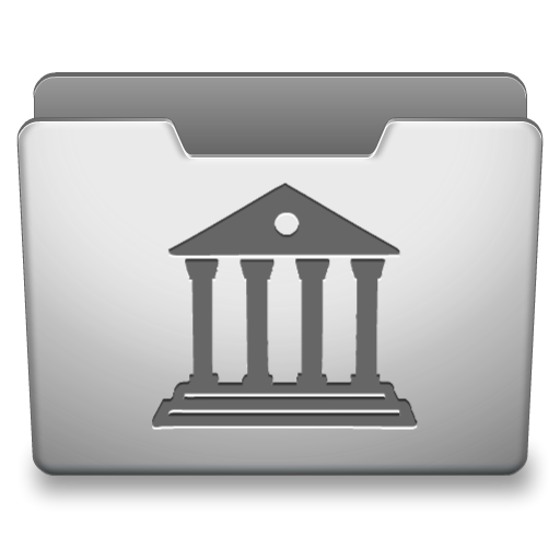 Aluminum Grey Library Icon