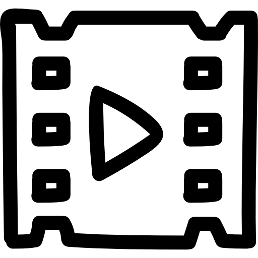 Video Hand Drawn Symbol Icons Free Download