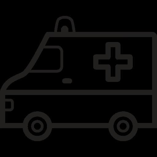 Ambulance, Emergency, Vehicle, Car Icon Free Of Medical Black Line
