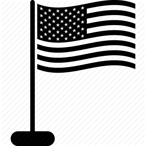 Flag, Usa Icon