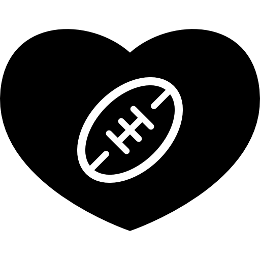 American Football Heart Icons Free Download