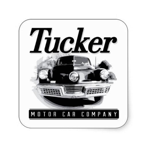 Vintage Tucker Motor Car Logo Square Stickers
