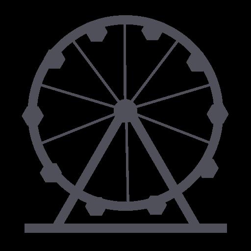 Park, Theme, Holiday, Amusement, Wheel Icon
