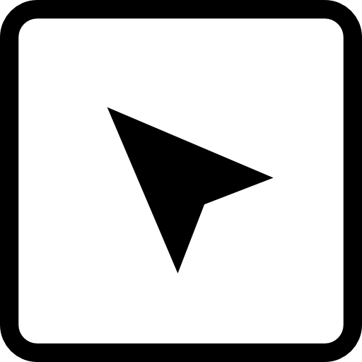 Arrow Symbol Pointing Upper Left Corner Of A Square Button Icons