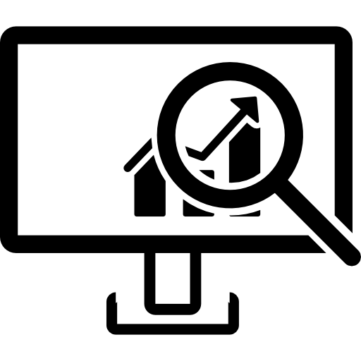 Data Analysis Interface Symbol Of A Monitor With A Bars Graphic
