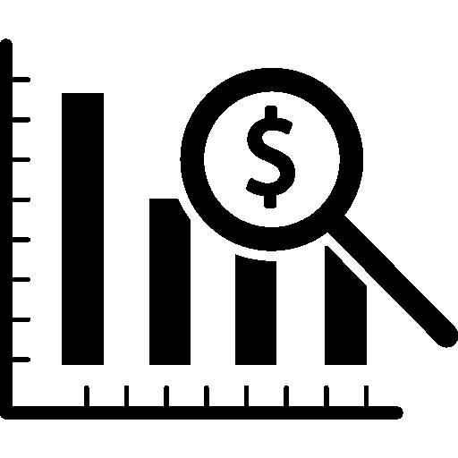 Dollar Analysis Bars Chart Icons Free Download