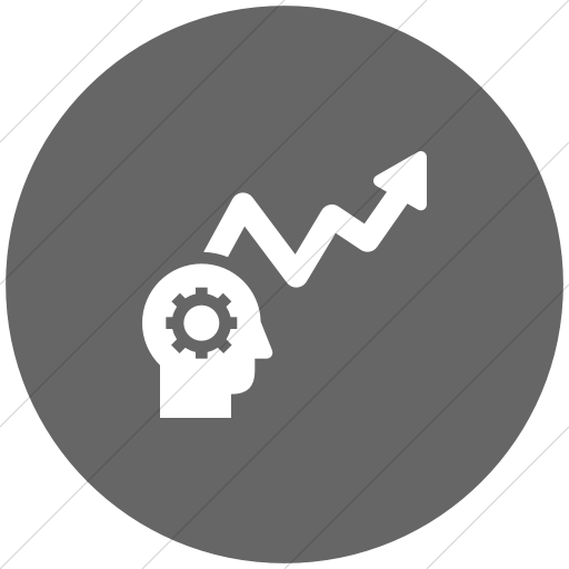 Flat Circle White On Gray Iconathon Learning Analytics Icon