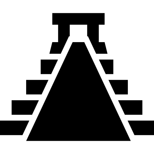 Ancient Mexico Pyramid Shape Icons Free Download