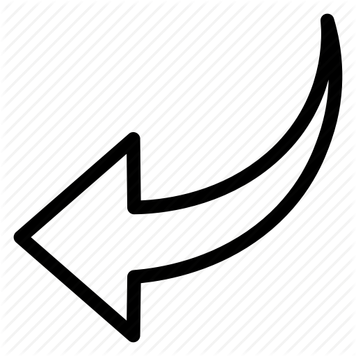 Arrow, Back, Curved, Previous Icon