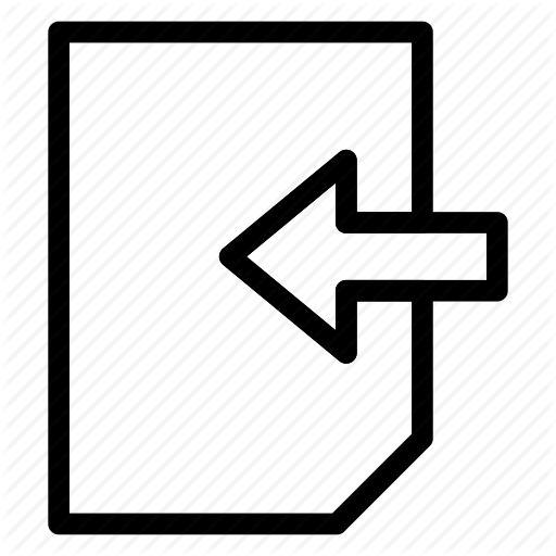 Arrow, Back, Document, Icon