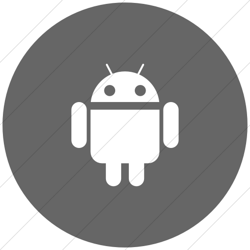 Flat Circle White On Gray Social Media Android Icon