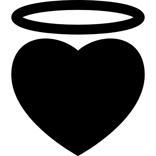 Angel Heart With An Halo Icons Free Download