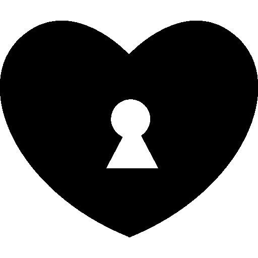 Heart Shape With A Keyhole Inside