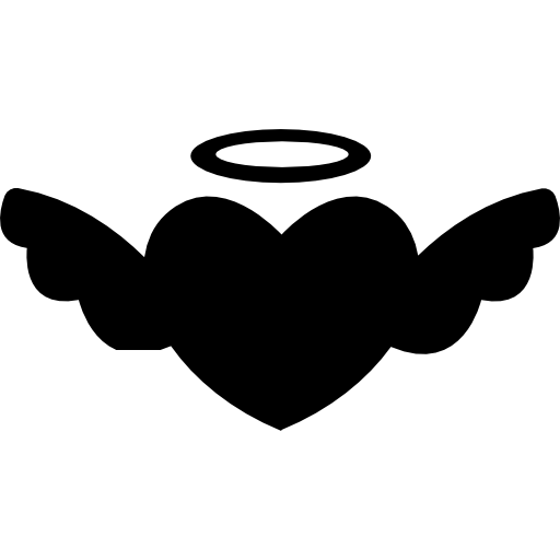 Winged Heart With An Halo Icons Free Download