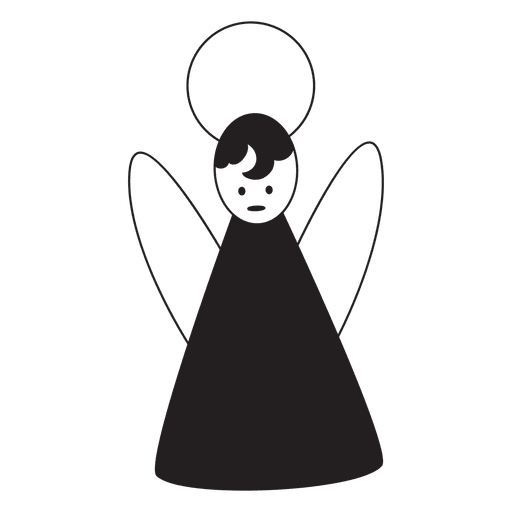 Angel Silhouette Icon
