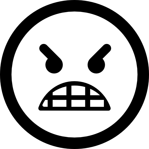 Angry Emoticon Face Icons Free Download