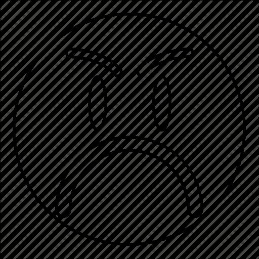 Angry, Emoji, Emoticon, Face, Feeling, Sad, Smile Icon
