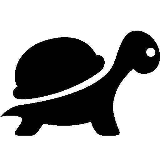 Animals Turtle Icon Black