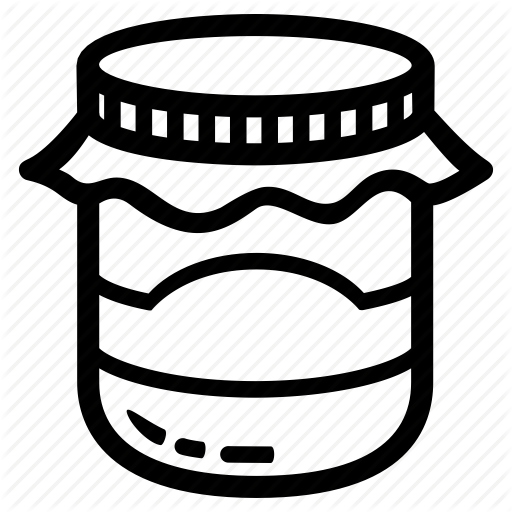 Food, Jam, Jar, Marmalade, Nice, Store Icon