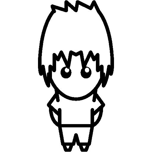 People, Masculine, Japanese, Comic, Manga, Japan, Animation Icon