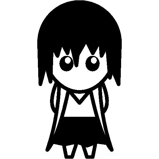 Anime Femenine Character With Skirt