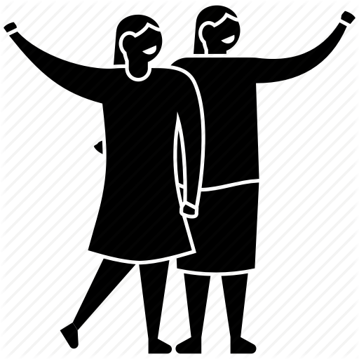 Two Friends Png Black And White Transparent Two Friends Black