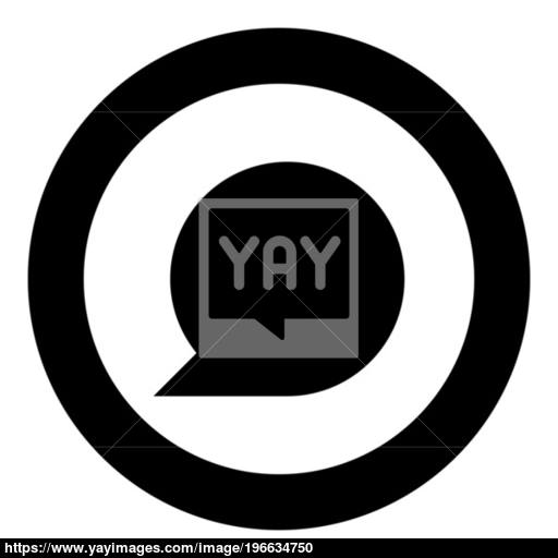 Sign Commentary Black Icon In Circle Vector Illustration Vector