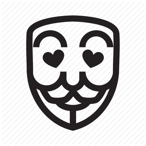 Anonymous, Emoticon, Hacker, Lovely, Mask Icon