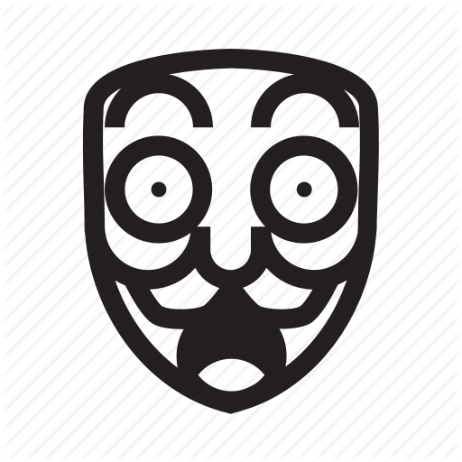 Anonymous, Emoticon, Hacker, Mask, Shocked Icon