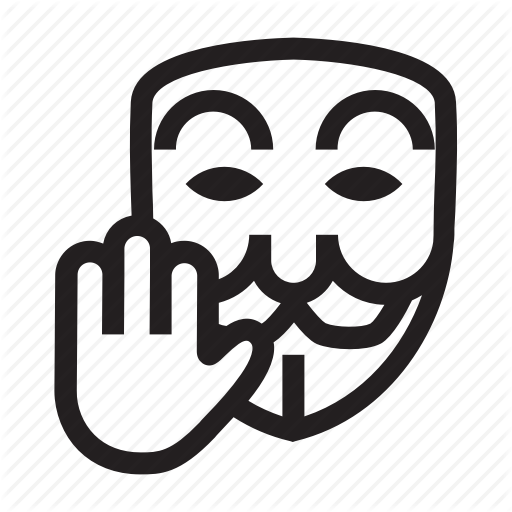 Anonymous, Emoticon, Hacker, Mask, Stop Icon