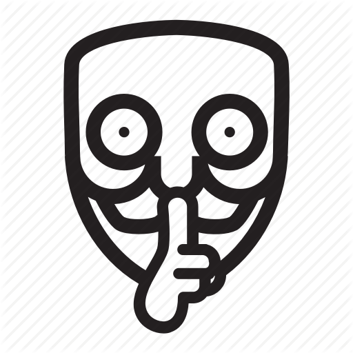 Anonymous, Emoticon, Hacker, Mask, Quite, Shut Up Icon