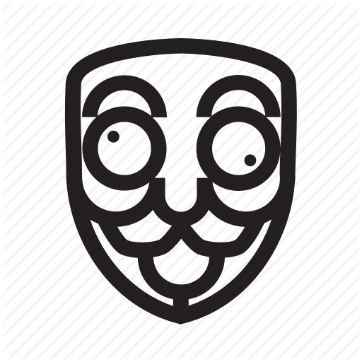 Anonymous, Crazy, Emoticon, Hacker, Mask Icon